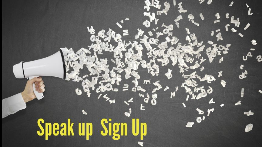 Speak up Sign Up
