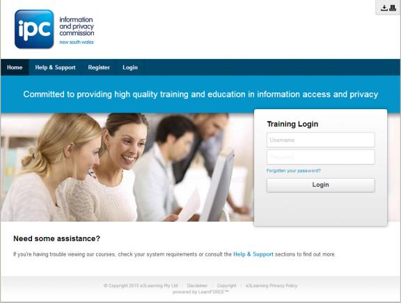 Image of IPC e-learning portal